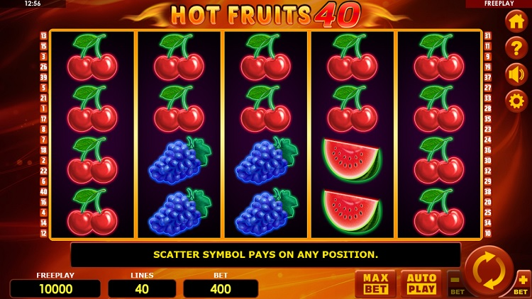 Hot Fruits 40 gokkast